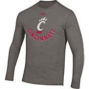 Under Armour Men's Cincinnati Bearcats Grey Tri-Blend Performance Long Sleeve T-Shirt