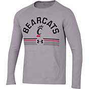 Under Armour Men's Cincinnati Bearcats Grey Aviator Waffle Long Sleeve T-Shirt