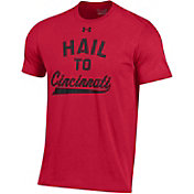 Under Armour Men's Cincinnati Bearcats Red Charged Cotton Performance T-Shirt