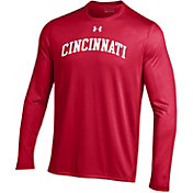 Under Armour Men's Cincinnati Bearcats Red Long Sleeve Tech Performance T-Shirt