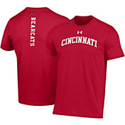 Under Armour Men's Cincinnati Bearcats Red Performance Cotton T-Shirt