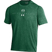Under Armour Men's Colorado State Rams Green Sideline Football Performance T-Shirt