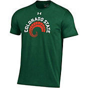 Under Armour Men's Colorado State Rams Green Throwback Performance T-Shirt