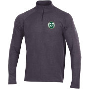 Under Armour Men's Colorado State Rams Grey Charged Cotton Quarter-Zip Shirt