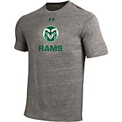 Under Armour Men's Colorado State Rams Grey Tri Blend Short Sleeve T-Shirt