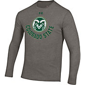Under Armour Men's Colorado State Rams Grey Tri-Blend Performance Long Sleeve T-Shirt