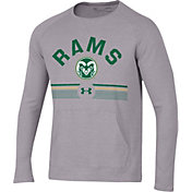 Under Armour Men's Colorado State Rams Grey Aviator Waffle Long Sleeve T-Shirt