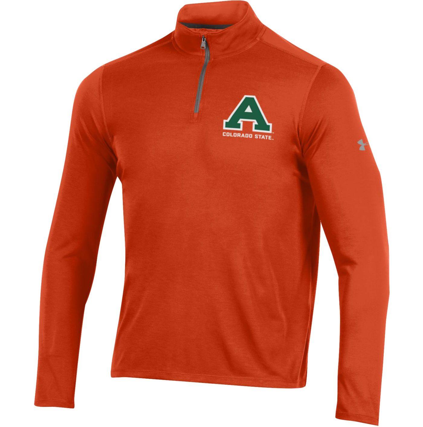 Under Armour Men's Colorado State Rams Orange Threadborne Quarter-Zip Performance Fleece