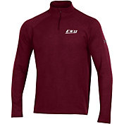 Under Armour Men's Eastern Kentucky Colonels Maroon Charged Cotton Quarter-Zip Shirt