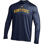 Under Armour Men's Kent State Golden Flashes Navy Blue Long Sleeve Tech Performance T-Shirt