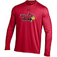 Under Armour Men's Illinois State Redbirds Red Long Sleeve Tech Performance T-Shirt
