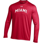 Under Armour Men's Miami RedHawks REd Long Sleeve Tech Performance T-Shirt