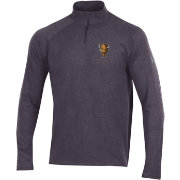 Under Armour Men's Marshall Thundering Herd Grey Charged Cotton Quarter-Zip Shirt