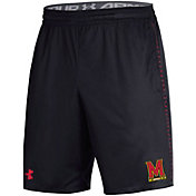Under Armour Men's Maryland Terrapins Training Performance Black Shorts