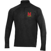 Under Armour Men's Maryland Terrapins Charged Cotton Quarter-Zip Black Shirt
