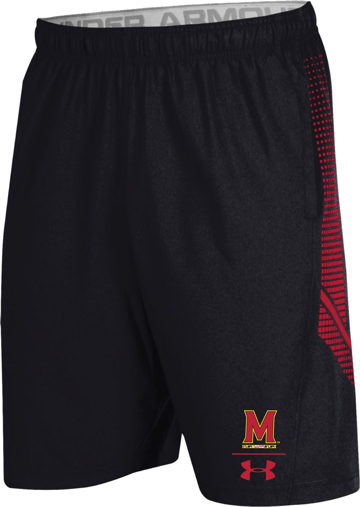 Under Armour Men's Maryland Terrapins Sideline Pinnacle Black Shorts