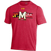 Under Armour Men's Maryland Terrapins Red 'Maryland Pride' Threadborne T-Shirt