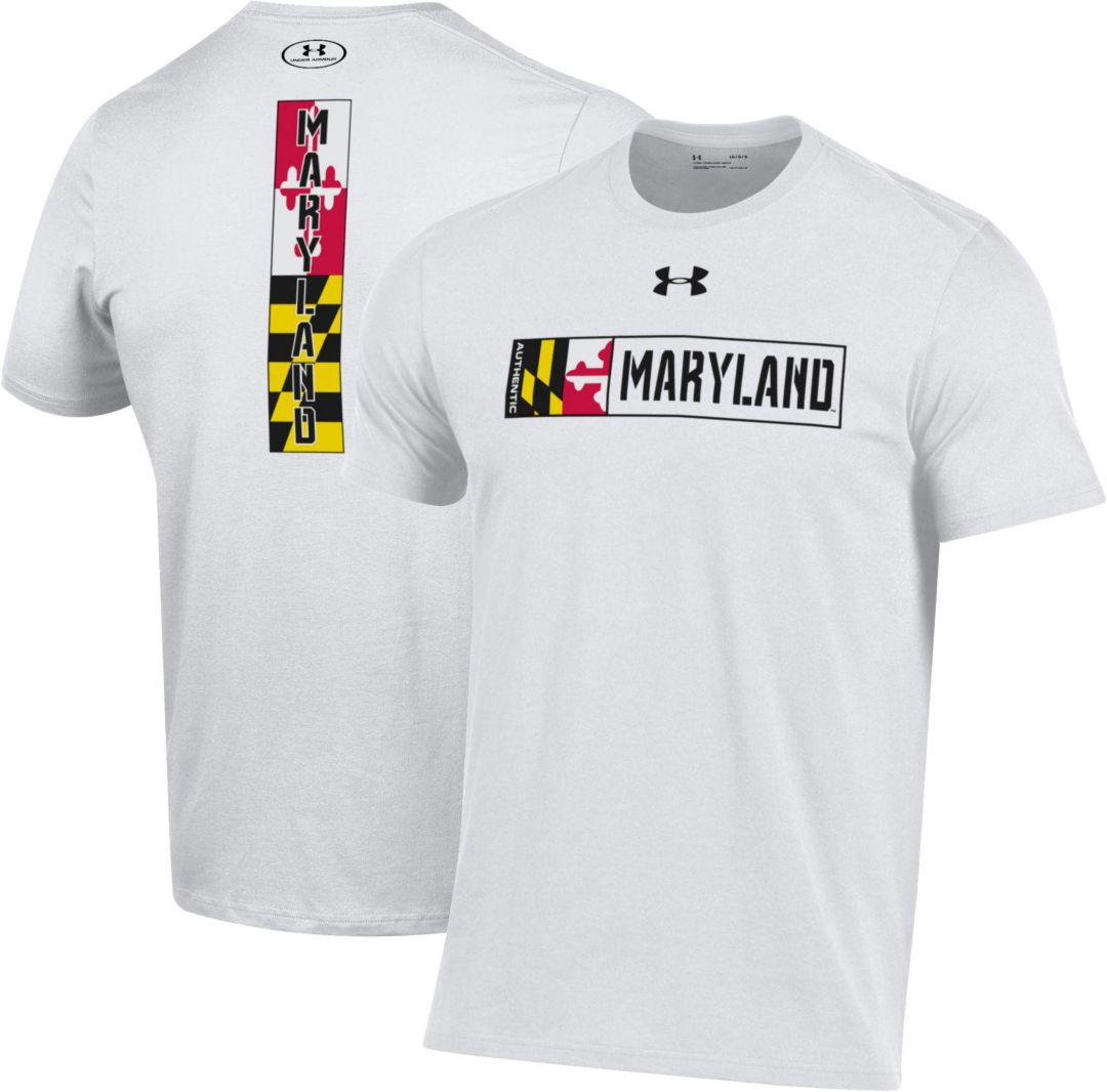 Under Armour Men's Maryland Terrapins 'Maryland Pride' White T-Shirt