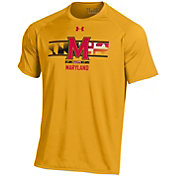 Under Armour Men's Maryland Terrapins Gold 'Maryland Pride' Tech Performance T-Shirt