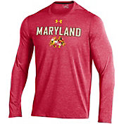Under Armour Men's Maryland Terrapins Red 'Maryland Pride' Performance Long Sleeve T-Shirt