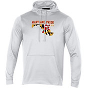 Under Armour Men's Maryland Terrapins 'Maryland Pride' Fleece Pullover White Hoodie