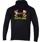 Under Armour Men's Maryland Terrapins 'Maryland Pride' Fleece Pullover Black Hoodie