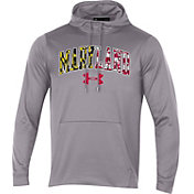 Under Armour Men's Maryland Terrapins Grey 'Maryland Pride' Fleece Pullover Hoodie