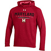 Under Armour Men's Maryland Terrapins Red MK1 Popover Performance Hoodie