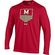 Under Armour Men's Maryland Terrapins Red Military Appreciation Long Sleeve T-Shirt