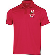 Under Armour Men's Maryland Terrapins Red Pinnacle Performance Polo