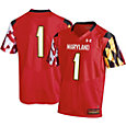 Under Armour Men's Maryland Terrapins #1 Replica Football White Jersey