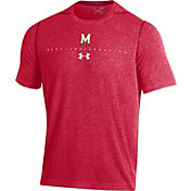 Under Armour Men's Maryland Terrapins Red Sideline Football Performance T-Shirt