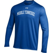 Under Armour Men's Middle Tennessee State Blue Raiders Blue Long Sleeve Tech Performance T-Shirt