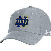 Under Armour Men's Notre Dame Fighting Irish Grey Blitzing Adjustable Hat