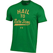 Under Armour Men's Notre Dame Fighting Irish Green Charged Cotton Performance T-Shirt