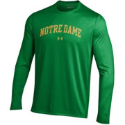 Under Armour Men's Notre Dame Fighting Irish Green Long Sleeve Tech Performance T-Shirt