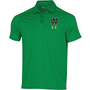Under Armour Men's Notre Dame Fighting Irish Green Pinnacle Performance Polo