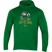 Under Armour Men's Notre Dame Fighting Irish Green Fleece Pullover Hoodie