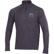 Under Armour Men's Notre Dame Fighting Irish Grey Charged Cotton Quarter-Zip Shirt