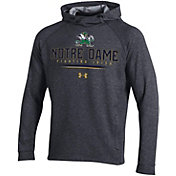Under Armour Men's Notre Dame Fighting Irish Grey MK1 Popover Performance Hoodie