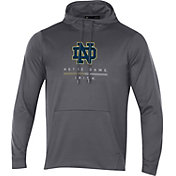 Under Armour Men's Notre Dame Fighting Irish Grey Armour Fleece Pullover Hoodie