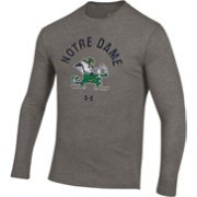 Under Armour Men's Notre Dame Fighting Irish Grey Tri-Blend Performance Long Sleeve T-Shirt