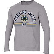 Under Armour Men's Notre Dame Fighting Irish Grey Aviator Waffle Long Sleeve T-Shirt