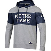 Under Armour Men's Notre Dame Fighting Irish Grey Iconic Threadborne Hoodie