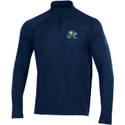 Under Armour Men's Notre Dame Fighting Irish Navy Charged Cotton Quarter-Zip Shirt