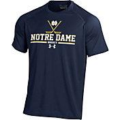Under Armour Men's Notre Dame Fighting Irish Navy Tech Performance Hockey T-Shirt