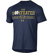 Under Armour Men's Notre Dame Fighting Irish Navy 'Undefeated' Tech Performance Football T-Shirt