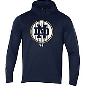 Under Armour Men's Notre Dame Fighting Irish Navy Fleece Pullover Hoodie