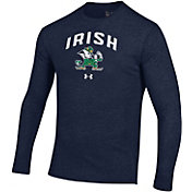 Under Armour Men's Notre Dame Fighting Navy Tri-Blend Performance Long Sleeve T-Shirt