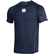 Under Armour Men's Notre Dame Fighting Irish White Training Performance T-Shirt